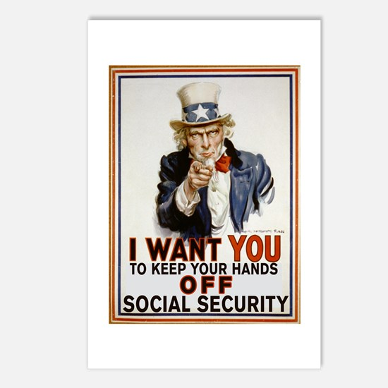 Don't Touch Social Security Postcards (Package of