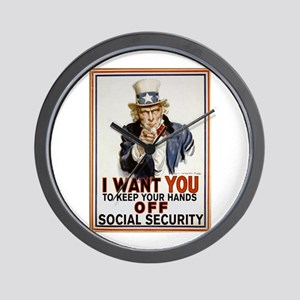 Don't Touch Social Security Wall Clock