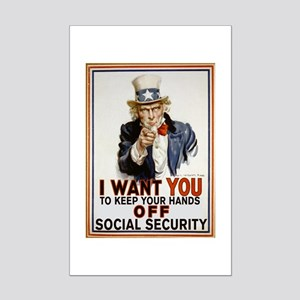 Don't Touch Social Security Mini Poster Print