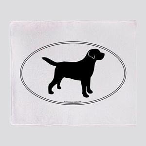 All Lab Outline Throw Blanket