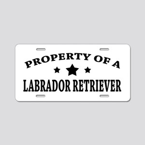Property of Lab Aluminum License Plate