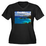 Success Women's Plus Size V-Neck Dark T-Shirt