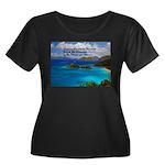 Success Women's Plus Size Scoop Neck Dark T-Shirt