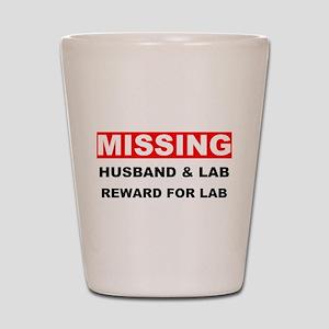 Missing Husband Lab Shot Glass