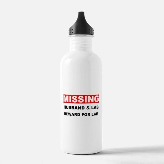 Missing Husband Lab Water Bottle