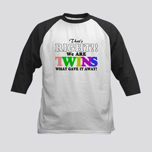 That's Right!! We are twins2 Kids Baseball Jersey