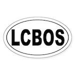 LCBOS Oval Sticker