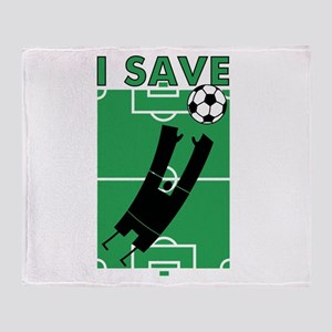 Soccer I Save Throw Blanket