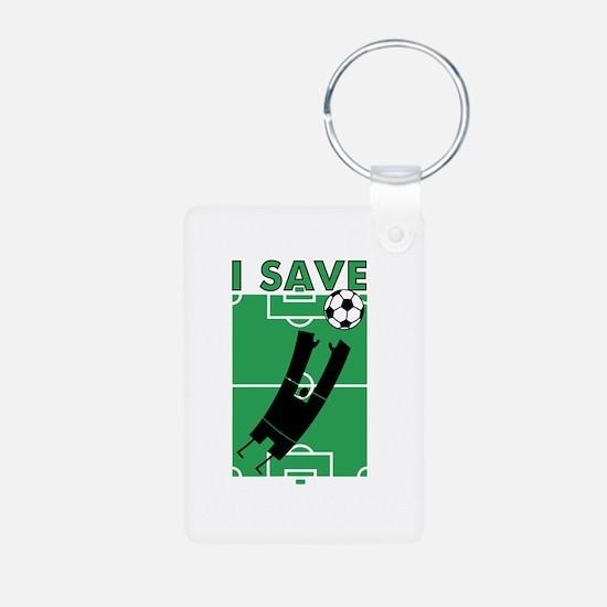 Soccer I Save Keychains