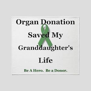 Granddaughter Transplant Throw Blanket