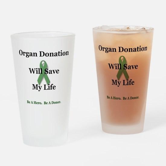 My Organ Donation Pint Glass