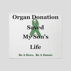 Son Transplant Throw Blanket