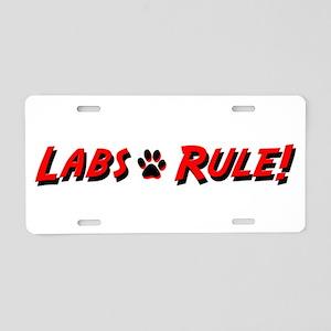 Labs Rule Aluminum License Plate