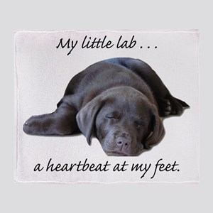Chocolate Lab Heartbeat Throw Blanket