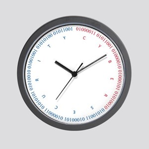 Cyber Security w/ Text RB Wall Clock