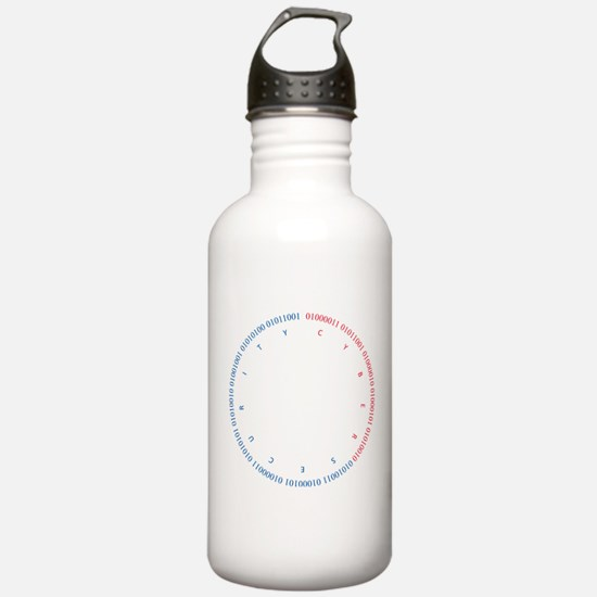 Cyber Security w/ Text Water Bottle