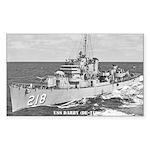USS DARBY Sticker (Rectangle)