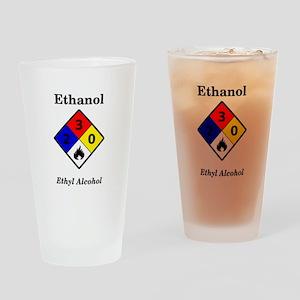 Ethanol MSDS Label Pint Glass