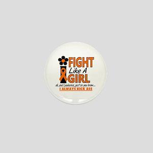 Licensed Fight Like a Girl 1.2 Leukemi Mini Button