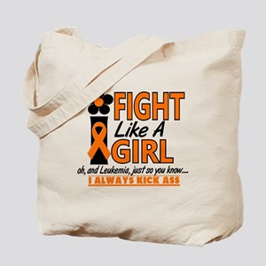 Licensed Fight Like a Girl 1.2 Leukemia Tote Bag