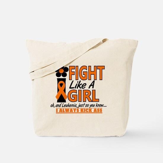 Licensed Fight Like a Girl 1.2 Leukemia Tote Bag