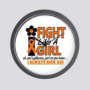 Licensed Fight Like a Girl 1.2 Leukemia Wall Clock