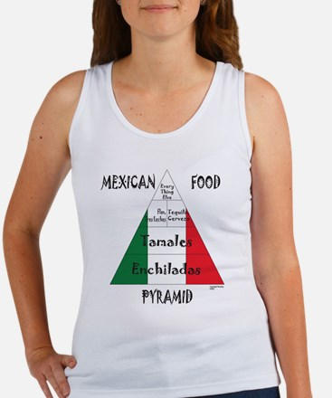 Mexican Food Pyramid Women's Tank Top