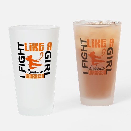 Licensed Fight Like a Girl 3.2 Leuk Drinking Glass