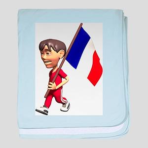 3D France baby blanket