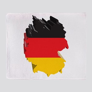 3D Map Of Germany Throw Blanket