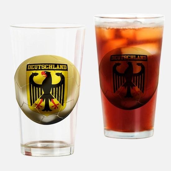 Deutschland Football Pint Glass