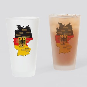 Germany Map Pint Glass