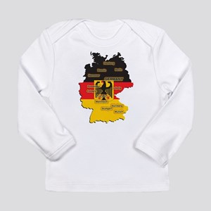 Germany Map Long Sleeve Infant T-Shirt
