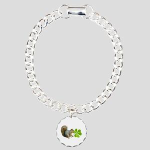 Shamrock Squirrel Charm Bracelet, One Charm