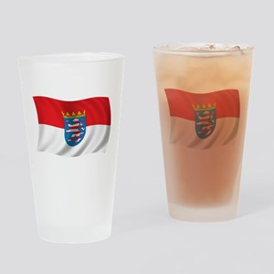 Wavy Hesse Flag Pint Glass