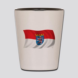 Wavy Hesse Flag Shot Glass