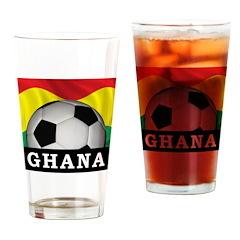 Ghana Football Pint Glass