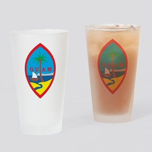 Guam Coat Of Arms Pint Glass