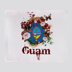 Butterfly Guam Throw Blanket