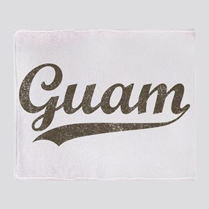 Vintage Guam Throw Blanket