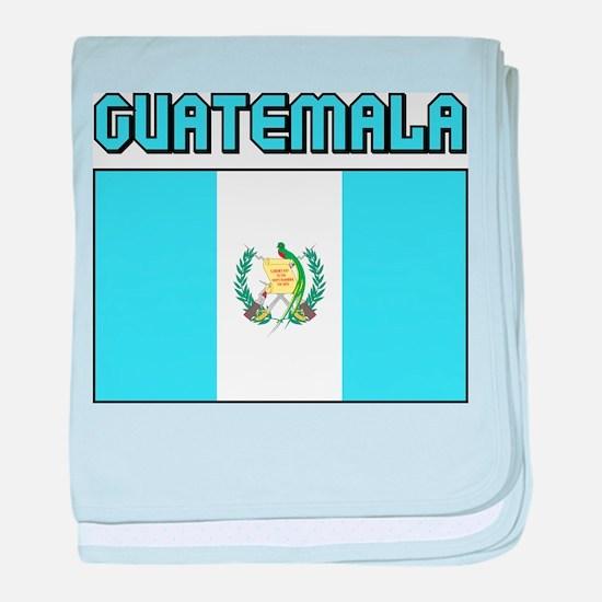 Guatemala Flag baby blanket