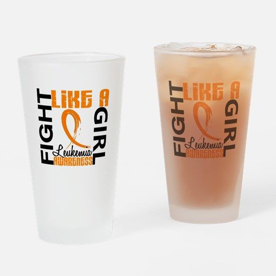 Licensed Fight Like a Girl 3.3 Leuk Drinking Glass
