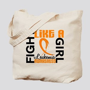 Licensed Fight Like a Girl 3.3 Leukemia Tote Bag