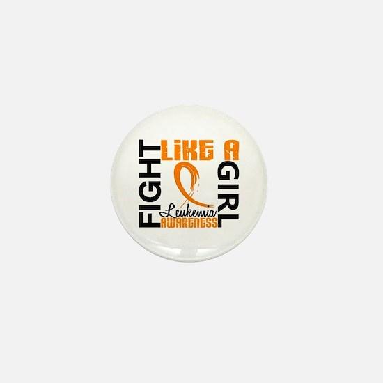 Licensed Fight Like a Girl 3.3 Leukemi Mini Button