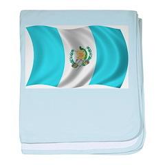 Wavy Guatemala Flag baby blanket