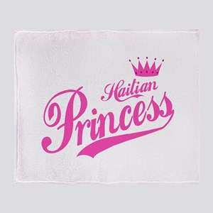 Haitian Princess Throw Blanket