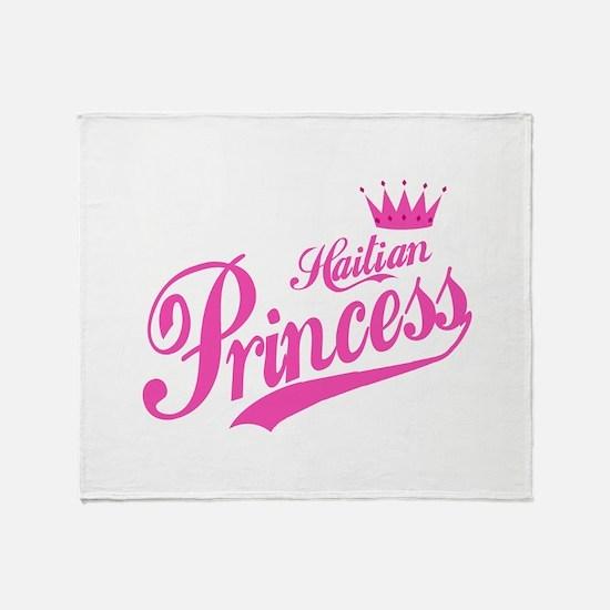 Haitian Princess Throw Blanket
