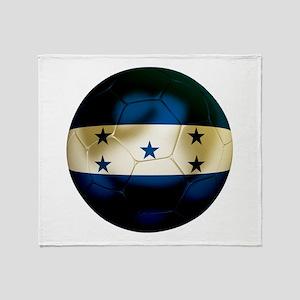 Honduras Football Throw Blanket