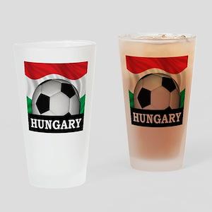 Hungary Football Pint Glass
