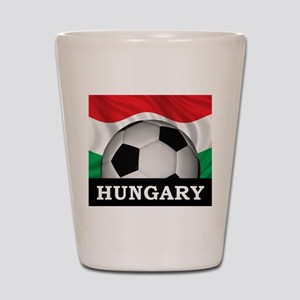 Hungary Football Shot Glass